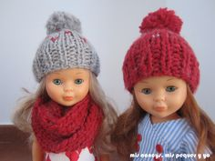 mis nancys, mis peques y yo, nancy con gorros de lana y bufanda, tutorial