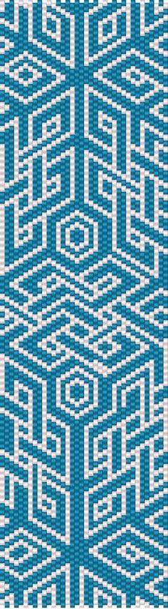 Geo 60 Peyote Beaded Bracelet - Even Count Peyote Beading, Beaded Bracelet Patterns, Peyote Patterns, Beaded Bracelets, Beadwork, Color Swirl, Cute Backgrounds, Brick Stitch, Beads