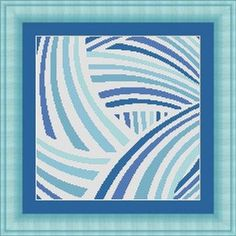Blue abstract cross stitch pattern on Etsy.com - LudivinePointDeCroix, $4.65