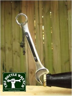 The Bottle Wrench Bottle Opener - The prefect gift for the guy that loves beer and working on things!