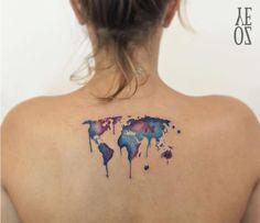 Αποτέλεσμα εικόνας για tatuajes de mapas del mundo