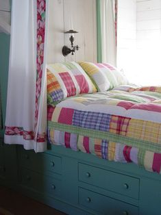 Charming Home Tour ~ Florida Beach Cottage with built-in bed like you see in Scandinavian homes.