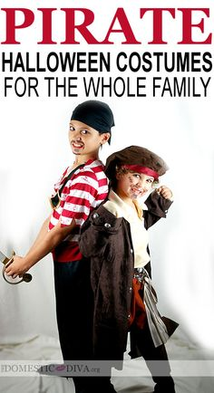 Pirate Halloween Costumes for the Whole Family