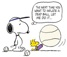 Snoopy and Woodstock - Once Upon a Time Tennis Balls Were White and Inflatable