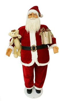 Cosette Red Music Motion Moving Christmas Decor Santa Claus Doll Collection Sensor *** Don't get left behind, see this great  product : Collectible Dolls for Home Decor