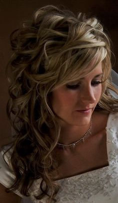 Wedding Hair - Intricate Loose Curls subtly pinned. exactly what i want