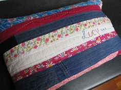 Quilted pillow for Lucy