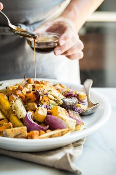 These Maple Balsamic Roasted Vegetables are a must for any dinner party or Thanksgiving table. A mixture of root…
