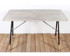 reclaimed desk - cooper grey