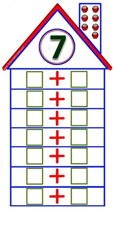 Parts of 6 Preschool Learning Activities, Kindergarten Math, Teaching Math, Preschool Activities, Math Expressions, Math Addition, School Worksheets, Math Numbers, First Grade Math