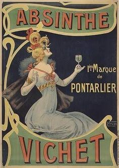 Absinthe Poster, Vintage