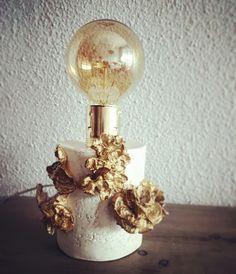 LAMPARA DE MESA_PORCELANA pieza decorativa única#DISEÑOS PGR