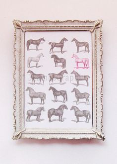 Horse of a Different Color Modern 11 x 14 by 3LambsGraphics, $29.50 Want this for Zoey's room.