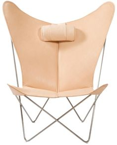 The Butterfly chair was originally designed by three Argentinean architects in 1938. In Argentina, the chair is almost a national symbol (the chair is seen especially in Buenos Aires), as it is is Argentina's most famous contribution to modern furniture design.