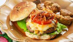 Best Venison Burger Recipe with Caramelized Onions