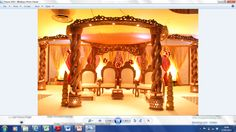 Our Mandap - need flowers to decorate. Thinking of ivory backdrop OR nicer gold (if they have it)