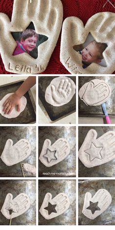 Handprint & Photo Keepsake Ornament | DIY Fathers Day Gift Ideas from Kids | DIY Birthday Gifts for Dad                                                                                                                                                                                 Más