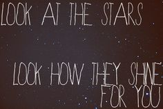 look at the stars