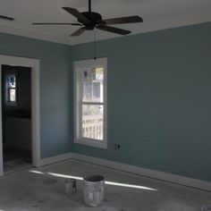 I used this in the bedroom...Rain by Sherwin Williams
