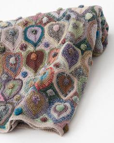 Bonita y original manta de ganchillo