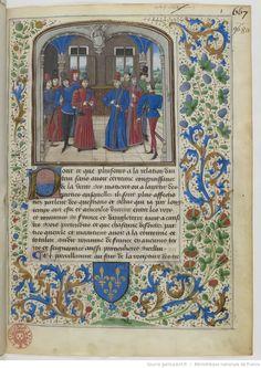 Titre : Guillaume Cousinot, La loy salicque, première loy des François Date d'édition : 1464-1467 Français 5058 1r