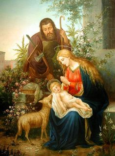 Holy Family portrait POSTER print 12x16 Virgin Mary St. Joseph picture image Blessed Mother and Child Nativity scene Holy Mary painting Catholic posters prints Christmas gifts *** Startling review available here  : Handmade Gifts