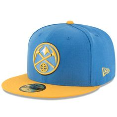 the latest 49c89 921d0 Denver Nuggets New Era Official Team Color 2Tone 59FIFTY Fitted Hat - Light  Blue Yellow