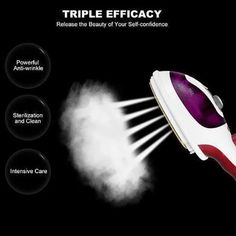 Useful Portable Handheld Steam Iron – chiclues Max Line, Fabric Steamer, Hot Steam, Clean Sofa, Cleaning Dust, Cleaning Tips, Green Cleaning, Steam Iron, Diy Crystals