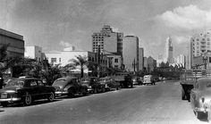 Nova Anhangabau Street, circa 1952  Sao Paulo, Brazil
