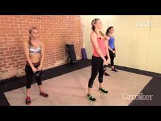 Total Body Kettlebell High Intensity Interval Training (HIIT) WorkoutGreatist writes: Chances are you've heard a thing (or two or about the benefits of HIIT workouts. Kettlebell Training, Kettlebell Workout Video, Kettlebell Swings, Workout Videos, Tabata, Kettlebell Deadlift, Kettlebell Benefits, Kettlebell Challenge, Muscle Building Workouts