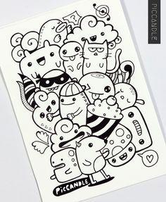 Resultado de imagem para desenhos fofos doodles