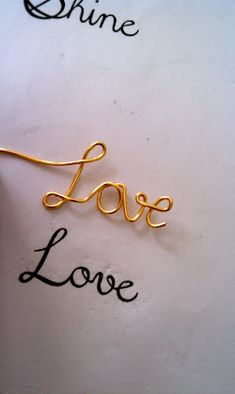 H is for Handmade: Guest Post: Love Script Necklace Tutorial, by Megan Best Cursive Fonts, Wire Letters, Wire Jewelry Making, Wire Jewellery, Wire Tutorials, Wire Necklace, Necklaces, Bracelets, Necklace Tutorial