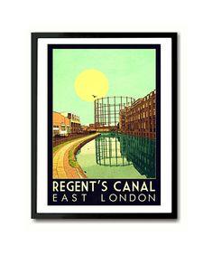 Tower Hamlets, Spitalfields,Whitechapel,Bow London Typography Wall Art Print