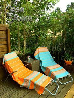 Les Foutas ARTHUR | Casa Fouta Outdoor Furniture, Outdoor Decor, Decoration, Sun Lounger, Hand Weaving, Towel, Stripes, Blankets, Weave