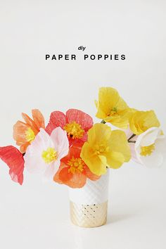 Flower Friday:DIY Paper Poppies