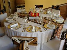 African Themed Table Setting Mollys Wedding Pinterest And Settings
