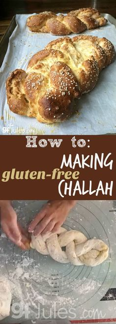 How to Make Gluten Free Challah - gorgeous braided bread is possible (even easy!) with this recipe and quick how-to video! Gluten-Free Dairy-Free | gfJules.com