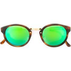 c5506ab7b606ce Retrosuperfuture Panamà Cove II 138 Mm Sunglasses ( 244) ❤ liked on  Polyvore featuring accessories, eyewear, sunglasses, brown, retrosuperfuture  glasses, ...