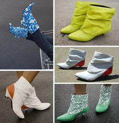 plastic bag shoes by Botas Dacca