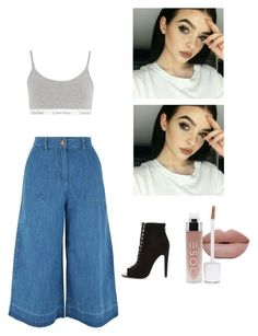 """""""Untitled #92"""" by adiduss-1 on Polyvore featuring New Look, Calvin Klein Underwear, River Island, TrickyTrend and overalls"""