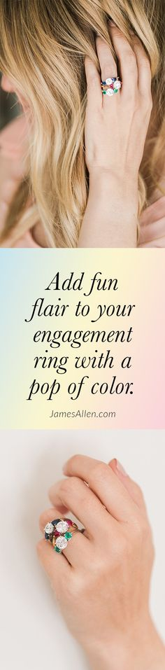 [ad] Make your engagement ring unique with a pop of color! Check out JamesAllen. Magical Wedding, Young And Beautiful, Up Girl, Unique Rings, Diamond Rings, Color Pop, Jewelery, Fashion Accessories, Wedding Inspiration