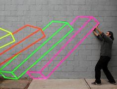 幾何街頭藝術,現實生活中的違和視覺遊戲 | 大人物