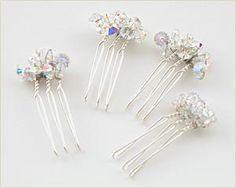 Swarovski Miniature Comb Hair Pieces @ Brilliant Wedding Jewelry