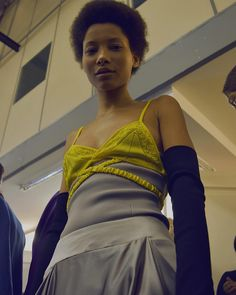 """@jonathan.anderson, backstage after the show which was about the """"style odyssey"""" of the @jw_anderson woman. 📷 @anabel_nll #LFW #AW17.png"""