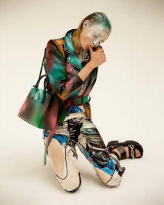 Vogue Paris | More on http://en.vogue.fr/ Paint strokes and pop...