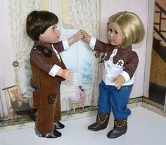 """18"""" cowboy and cowgirl"""