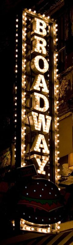 Etiquette for a Broadway Show: Broadway Marquee Sign