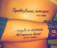 Couple tattoo with the day they got married