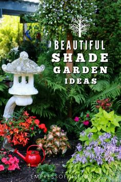 6 Simple Tricks to Improve Bland Shade Gardens Creative ways to make a blank shade garden beautiful. Garden Paths, Garden Art, Garden Design, Gardening For Beginners, Gardening Tips, Flower Gardening, Colorful Plants, Shade Plants, Shade Garden