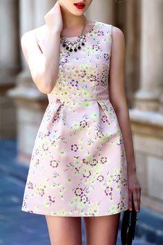 A Line Floral Dress